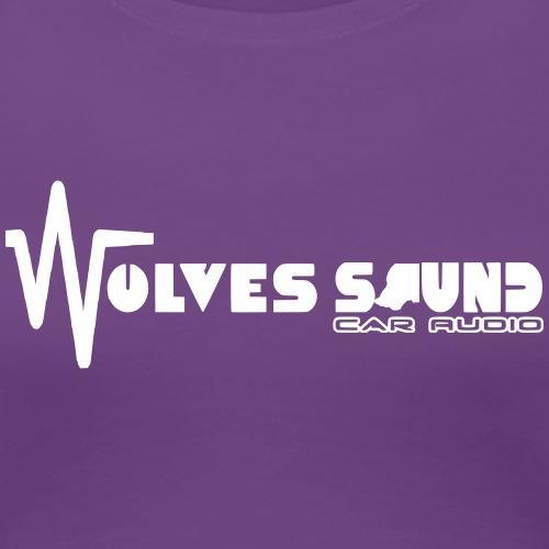 wolves sound car audio visuel logo - T-shirt Premium Femme