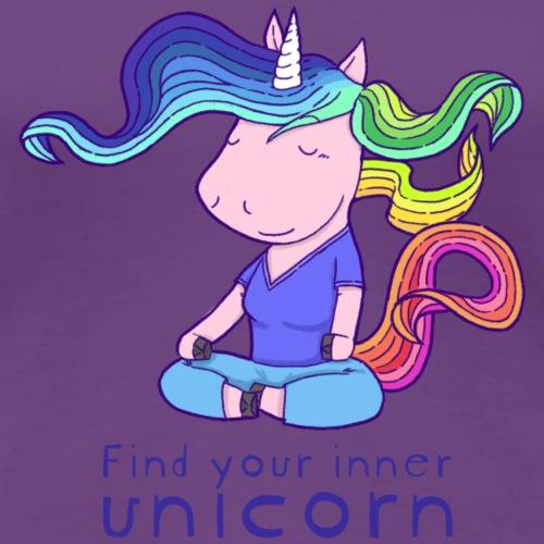 Yoga unicorn in the Lotus - Women's Premium T-Shirt