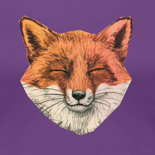 Schmunzel Fuchs - Frauen Premium T-Shirt