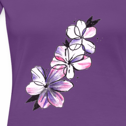 catena di fiori - Maglietta Premium da donna