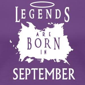 Legend Fødselsdag September - Dame premium T-shirt
