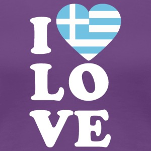 I love Greece - Frauen Premium T-Shirt