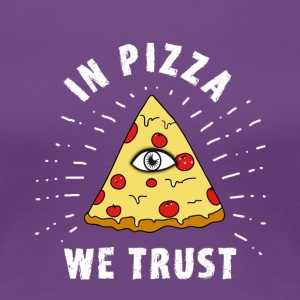 Pizza Illuminati Funny All Seeing Eye Food Humor - Frauen Premium T-Shirt