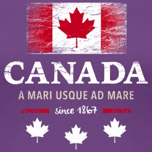 Canada Canada America maple leaf flag banner - Women's Premium T-Shirt