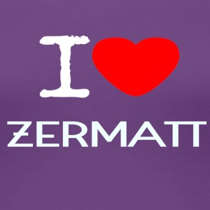 I LOVE ZERMATT - Women's Premium T-Shirt
