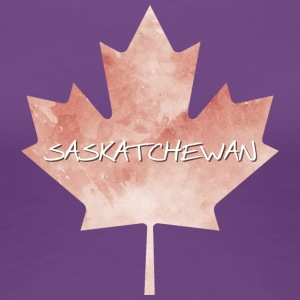 Saskatchewan Maple Leaf - Premium T-skjorte for kvinner