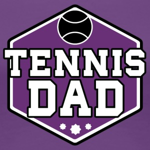Tennis Dad - Dame premium T-shirt
