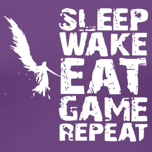 Sleep Wake Eet Game Repeat - Vrouwen Premium T-shirt