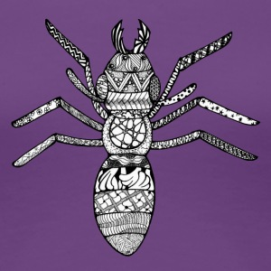 Zentangle-Ant - Premium-T-shirt dam