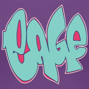 cage graffiti blue - Women's Premium T-Shirt