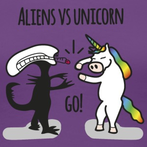 Aliens vs. Unicorn - Women's Premium T-Shirt