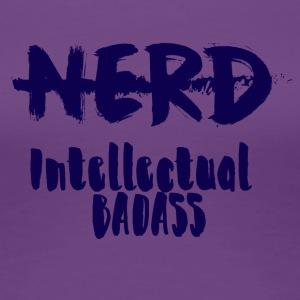 Nerd / Nerds: nerd - Intellectual Badass - Premium-T-shirt dam
