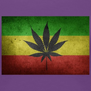 Jamaica Flag and Marijuana - Women's Premium T-Shirt