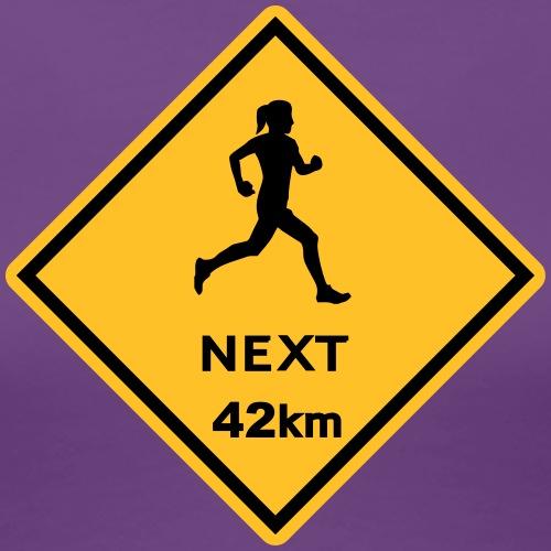 Running woman 42km - Frauen Premium T-Shirt