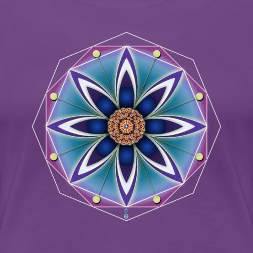 geometria fiorita - Maglietta Premium da donna