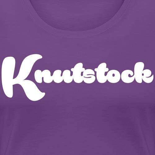 Knutstock Logo weiss - Frauen Premium T-Shirt