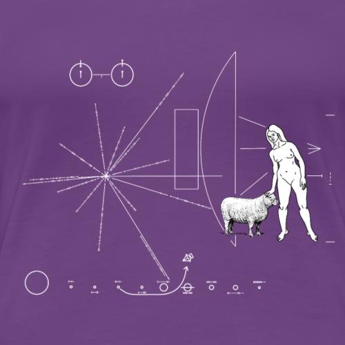 Pioneer plaque Une femme et un mouton ! - T-shirt Premium Femme