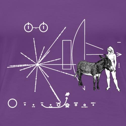 Pioneer plaque Une femme et un âne ! - T-shirt Premium Femme