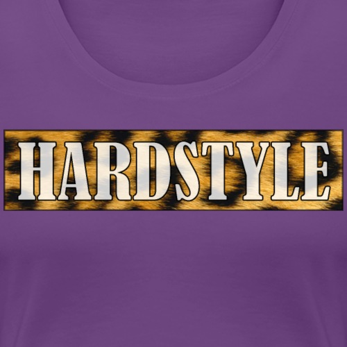 Leopard Hardstyle - white lettering - Vrouwen Premium T-shirt