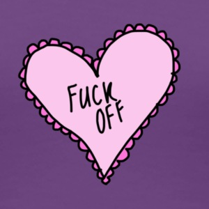 Pink Heart Fuck Off - Women's Premium T-Shirt