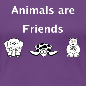 Animals are friends - Women's Premium T-Shirt