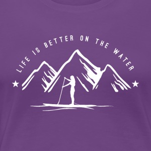 Mountain SUP - women - white - Frauen Premium T-Shirt