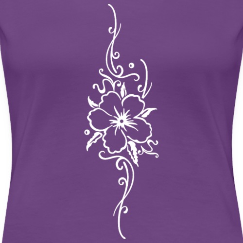 Ornament mit großer Hibiskusblüte, Hibiskus - Frauen Premium T-Shirt