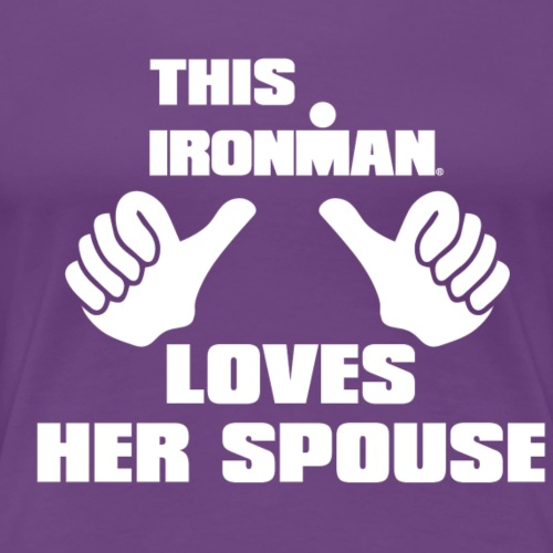 loves her spouse - Women's Premium T-Shirt