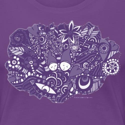 Lila Kleine Zwerge - Frauen Premium T-Shirt