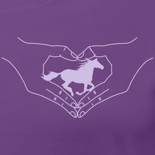Pferd mit Herz und Hand - Frauen Premium T-Shirt
