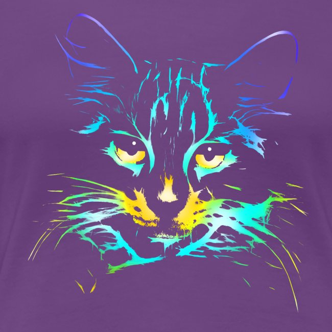 Vorschau: color kitty - Frauen Premium T-Shirt