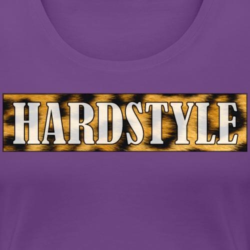 Leopard Hardstyle - white lettering - Vrouwen Premium T-shirt
