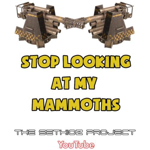 Stop looking at my Mammoths! - Women's Premium T-Shirt