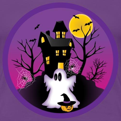 Spooky Halloween Ghost - Women's Premium T-Shirt