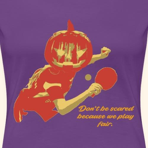 Lustige Halloween-Designs für Tischtennis-Spieler - Frauen Premium T-Shirt