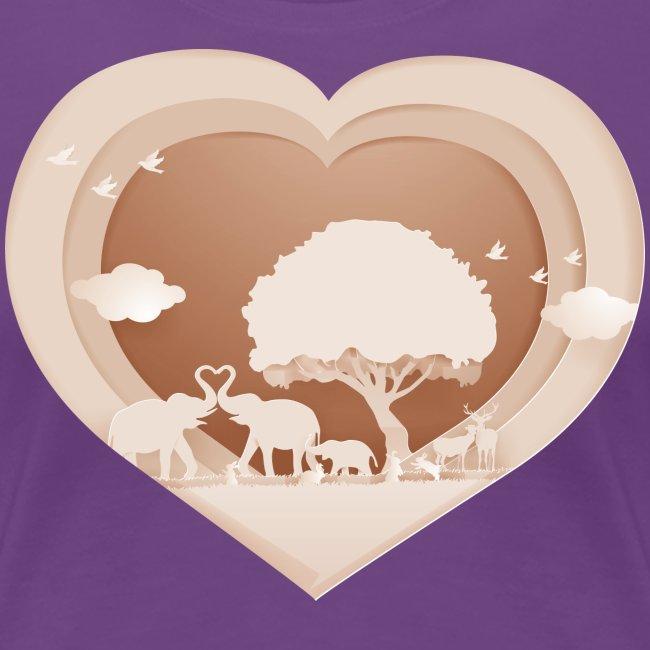 Animal Nature - Heart Button 1