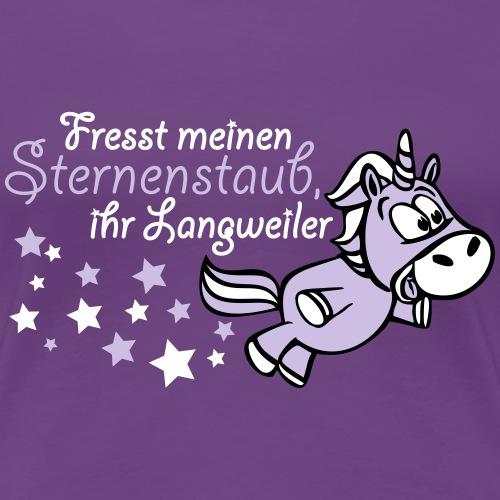 Einhorn Sternenstaub - Frauen Premium T-Shirt