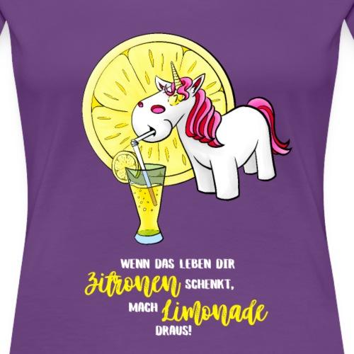 Wenn das Leben dir Zitronen schenkt - hell - Frauen Premium T-Shirt