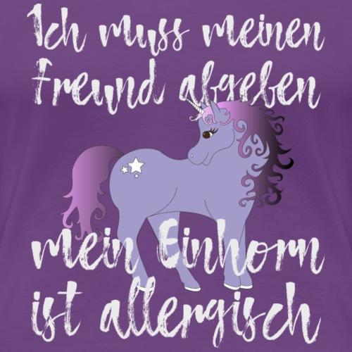 Pferd Einhorn Freund Shirt Geschenk - Frauen Premium T-Shirt