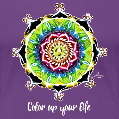 Color up your life –black - Frauen Premium T-Shirt