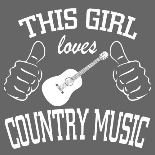 This girl loves country music - Women's Premium T-Shirt