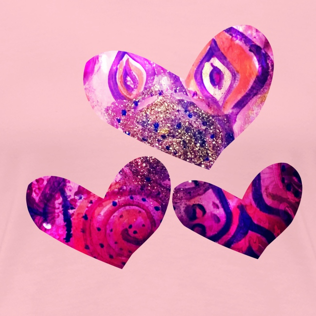 Traumhafte Herzen in pink