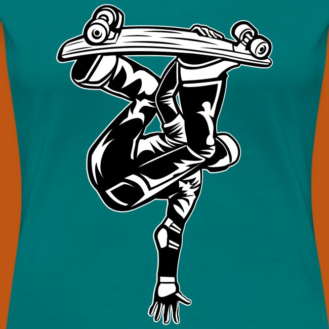 Skater / Skateboarder 03_schwarz weiß