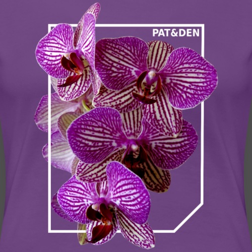Orchidee 0PD19 - Frauen Premium T-Shirt