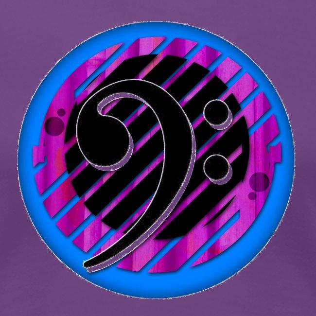 BassClef blue violet