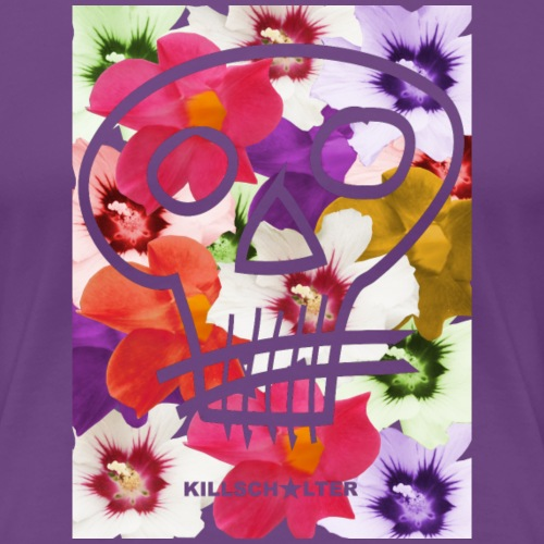 Kwiaty Czaszki - Koszulka damska Premium