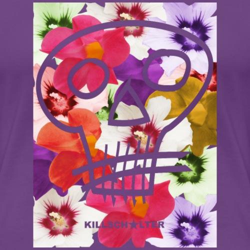 Skull Flowers - Frauen Premium T-Shirt