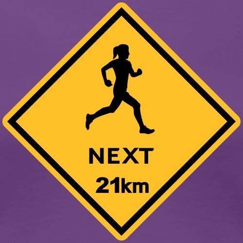 Running woman 21km - Frauen Premium T-Shirt