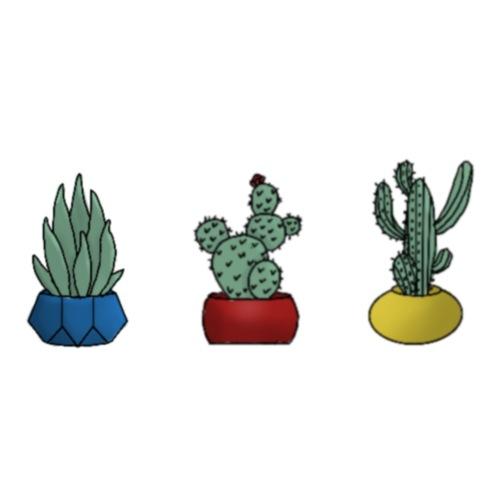 Primary cactus - Dame premium T-shirt