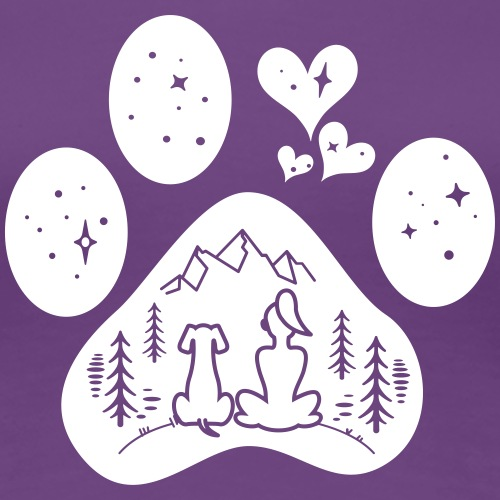 dog paw girl nature - Women's Premium T-Shirt